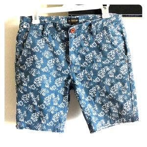 CPO Provisions printed denim shorts